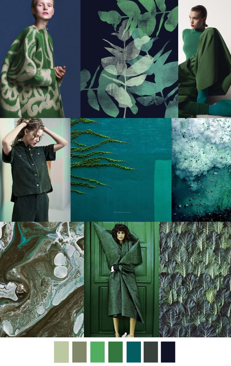 Green Oasis F W 2017 Trend In Fashion Color Palette For More Follow