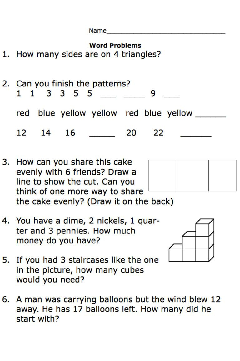 Free Printable Worksheets for Second-Grade Math Word Problems   Addition  words [ 1152 x 768 Pixel ]