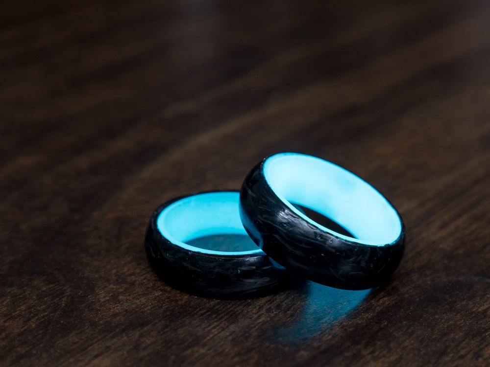 Carbon Glow Promise Ring