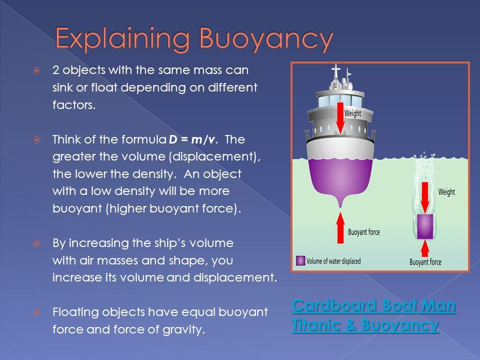 Image result for buoyant objects | A Buoyancy, Spread Flat
