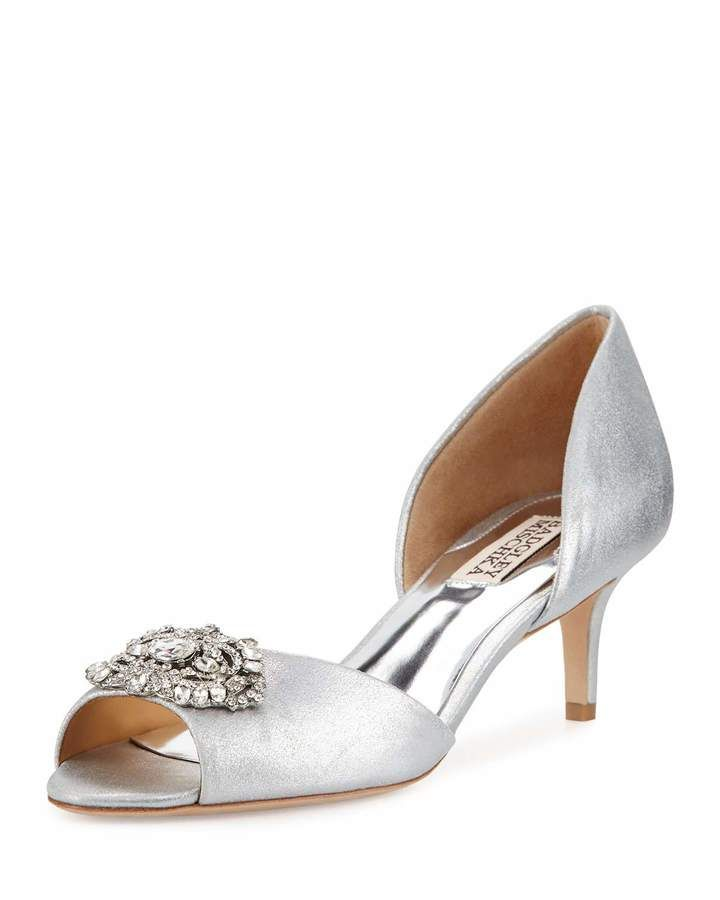 Shop Petrina II Crystal d'Orsay Sandal from Badgley Mischka at Neiman  Marcus Last Call, where you'll save as much as on designer fashions.