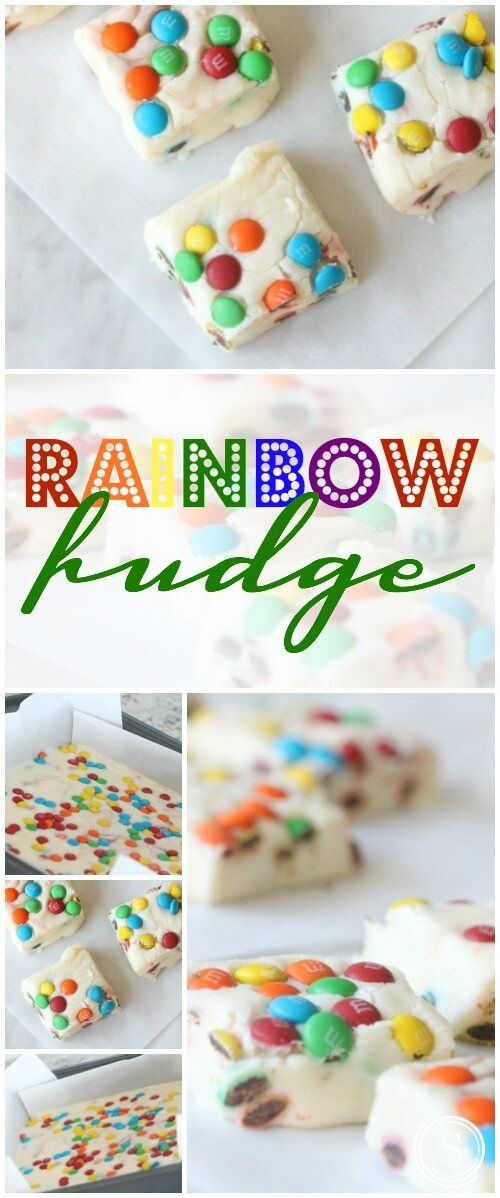 Rainbow Fudge Recipe for Birthday Parties or St. Patrick's Day! Homemade Simple Dessert Party Recipe!