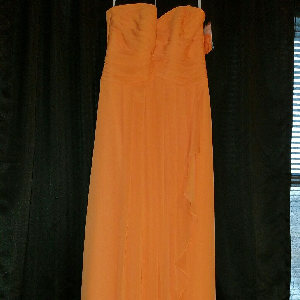 Strapless orange prom dress prom and products
