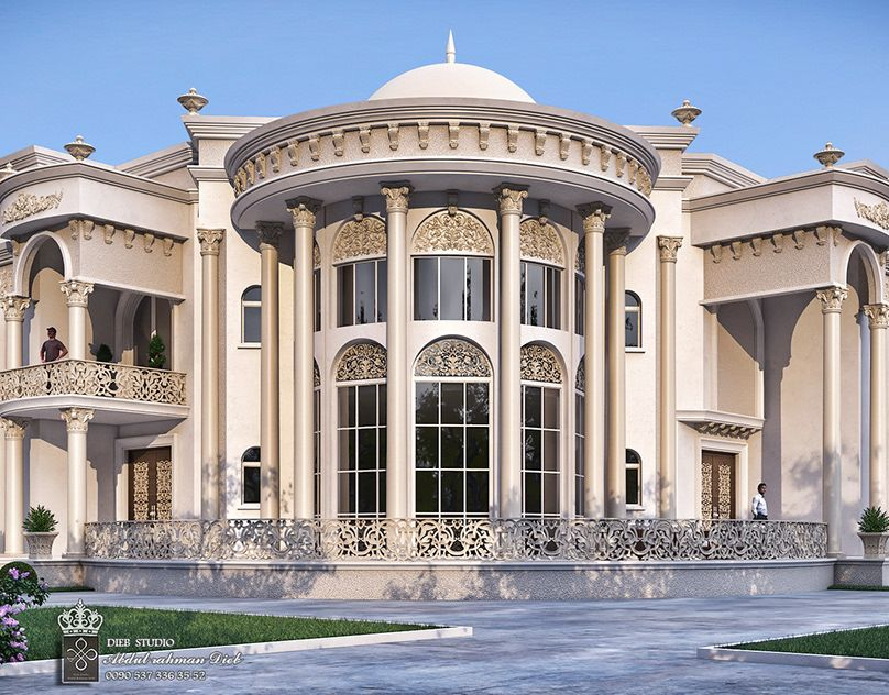 White Dove Palace On Behance Classic House Exterior Architect House Dream House Exterior