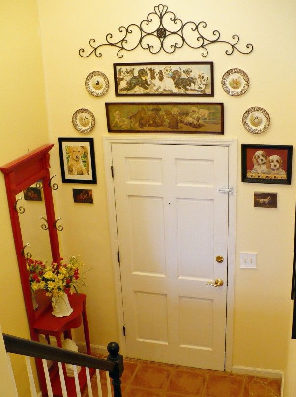 Foyer Gallery Wall | Small foyers, Thrift store finds and Foyers