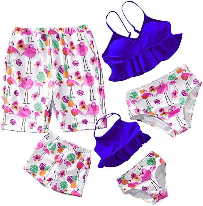 8c90cc303d Amazon.com: Yaffi Family Matching Two Pieces Bikini Set 2019 Newest Swimwear  Mommy and