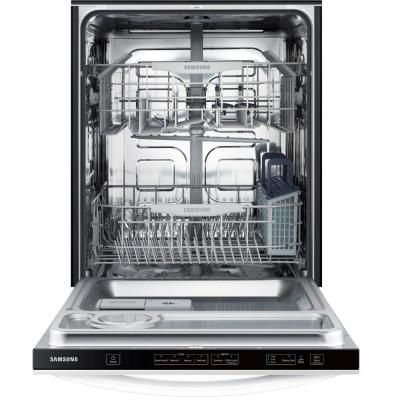 Samsung Top Control Dishwasher In White With Stainless Steel Tub Dw80f600utw The Home Depot Steel Tub Built In Dishwasher Slimline Dishwasher