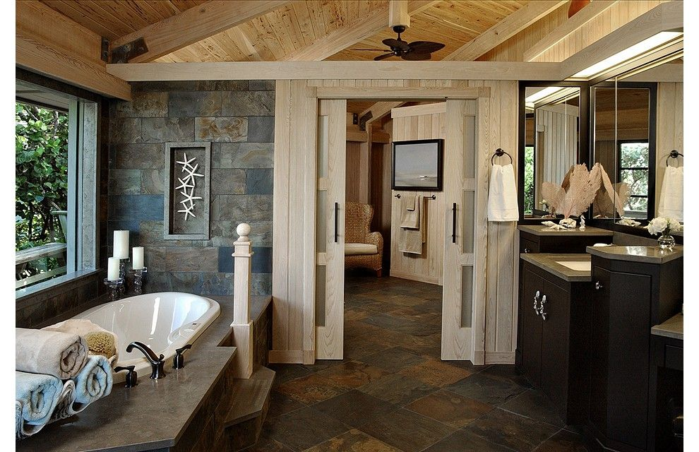 Rustic master bath traditional bathroom toronto by for Rustic master bathroom designs