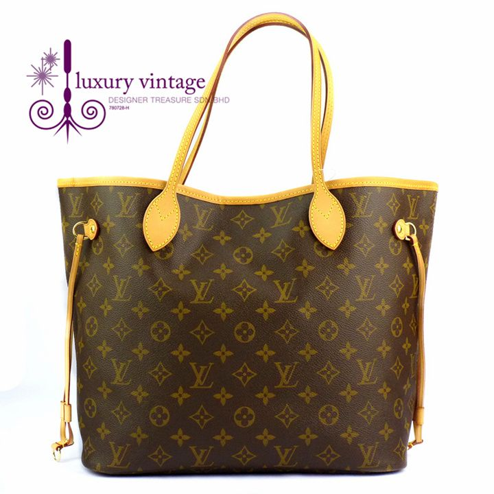 LV NEVERFULL MM Monogram Good Condition Ref.code-(KRYL-1) More Info Pls PM Or Email  ( luxuryvintagekl@ gmail.com )