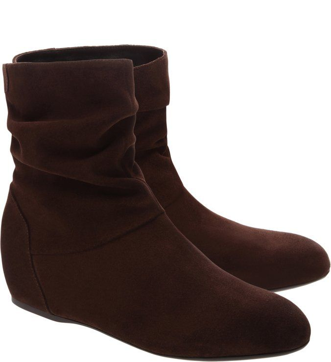 0223e2615 Bota Camurça Anabela Dark Cacau | Shoes - not eco-friendly in 2019 ...