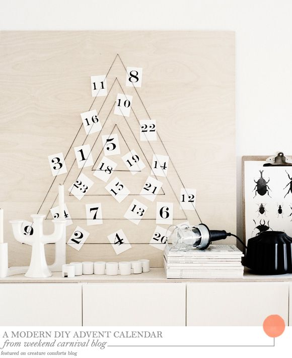 One Good Thing A Modern Diy Advent Calendar Home Creature Comforts Daily Inspiration Style Diy Pr Christmas Decor Diy Diy Advent Calendar Diy Calendar