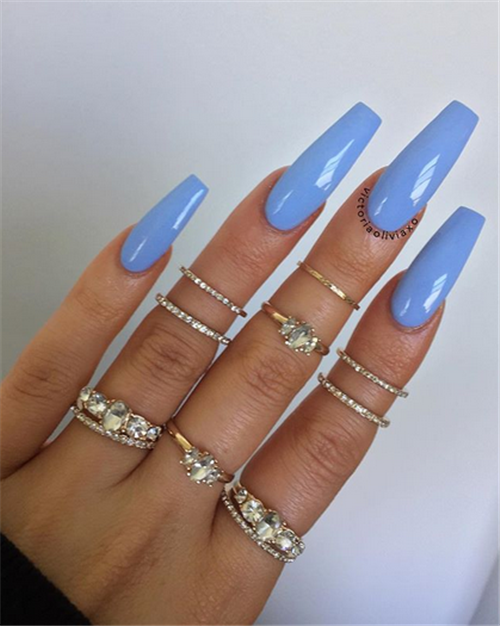 50 The Simple And Unique Acrylic Coffin Nails You Will Love This Summer Nail Art Connec Bright Summer Acrylic Nails Coffin Nails Designs Square Acrylic Nails