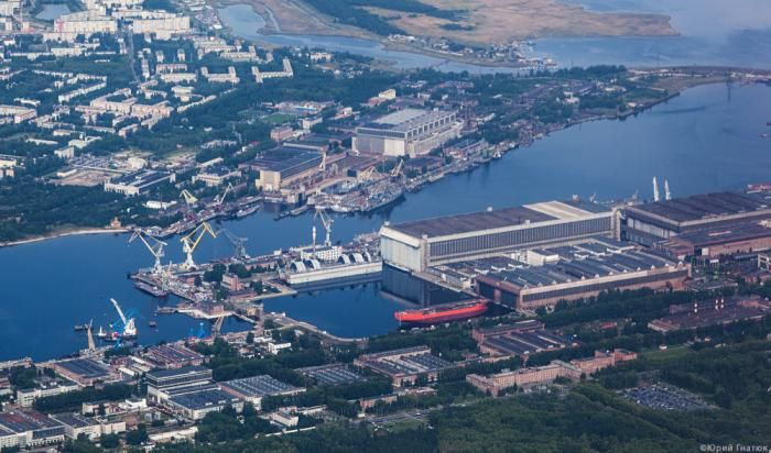 Shipyard Sevmash in Severodvinsk (close to Arkhangelsk) where the Typoons where build