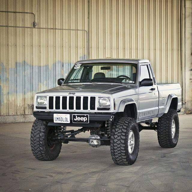 Clean Lifted Jeep Comanche Mj Jeep Pickups Jeep Jeep Truck Trucks
