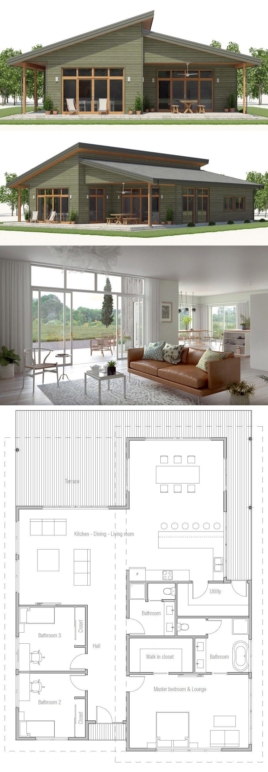 House plan modern architecture interiordesign homeplans floorplans archdaily also rh pinterest