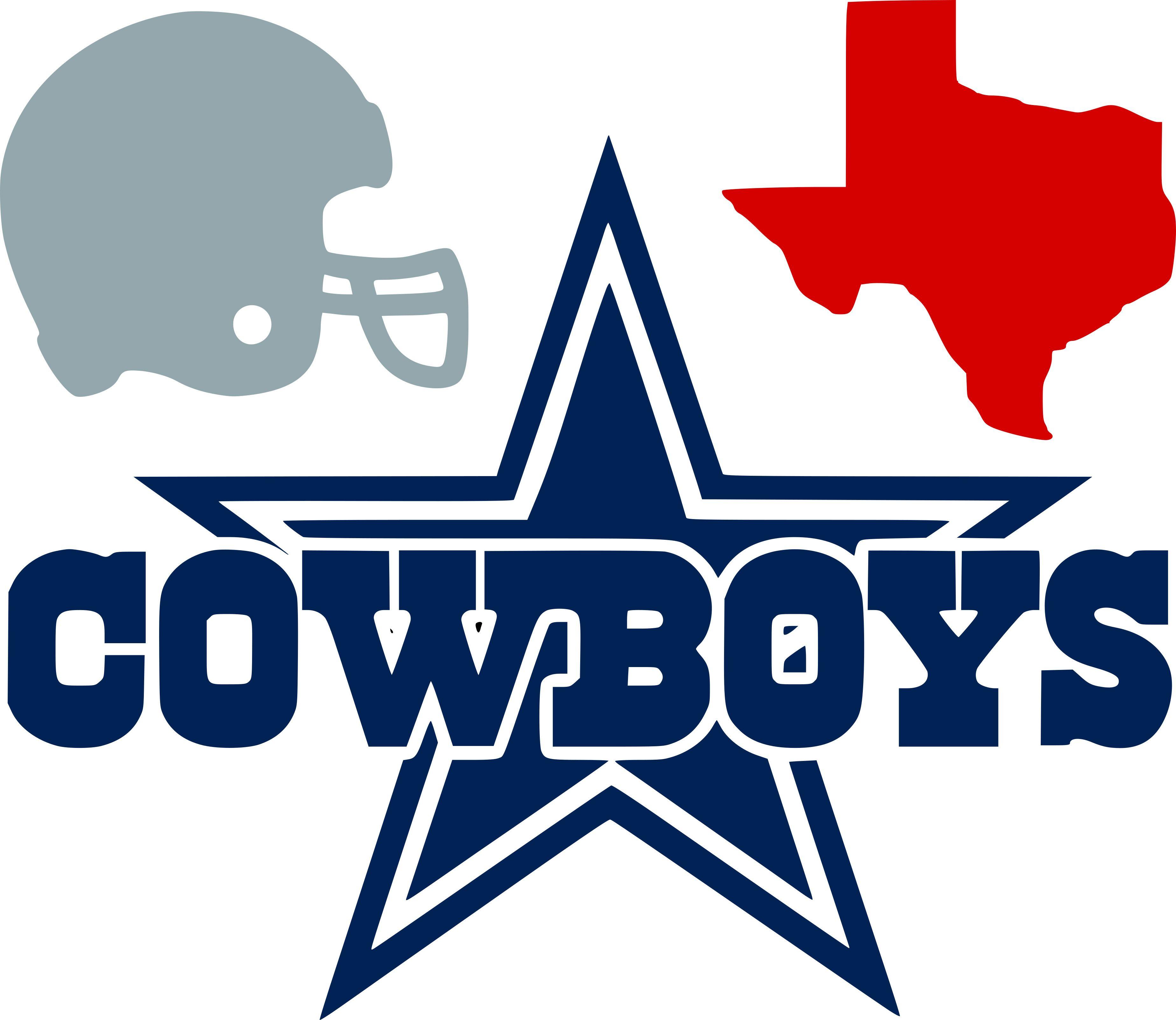 Dallas Cowboys SVG png pdf eps dxf File Cutouts Files Logo Silhouette Cricut Files Stencils Decals Team Sport AT/&T Stadium football