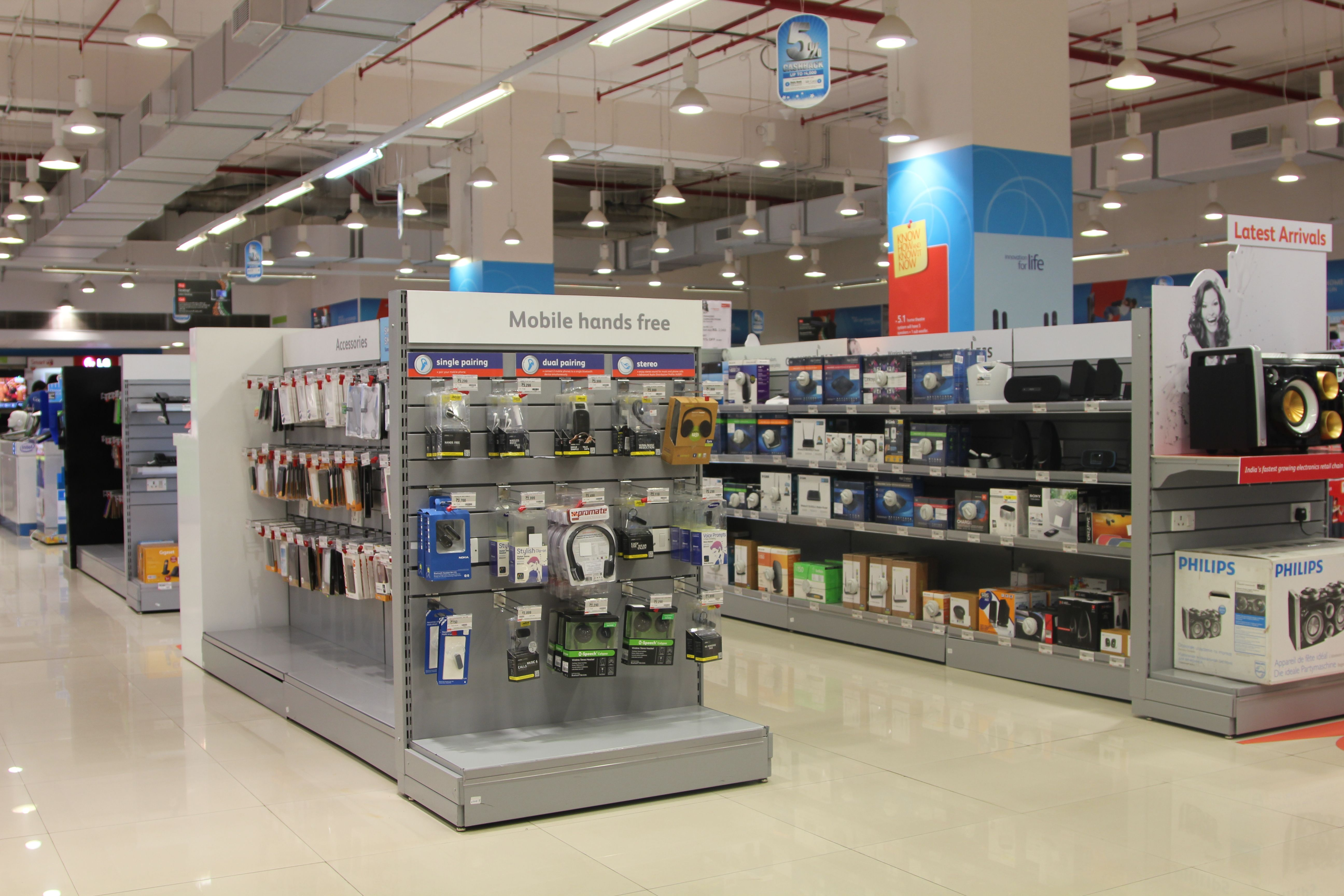 Reliance digital, POS fixtures for electronic retail. | Reliance ...
