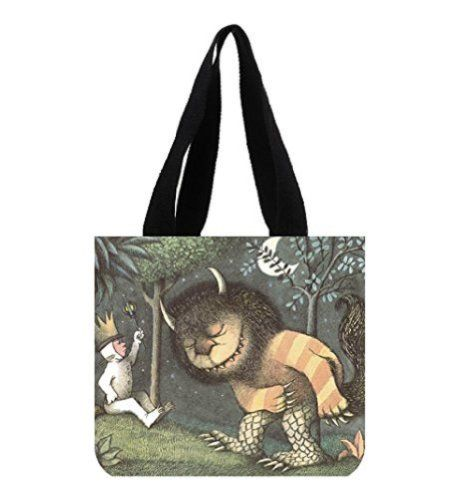 YBBG Where Wild Things Are Book Custom Cotton Canvas Tote Bag