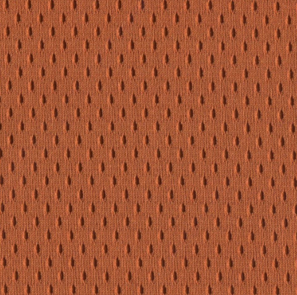 College Pro Football Stretch Mesh Jersey Polyester Fabric Texas Orange Sportswear Activewear Apparel Stretch Mesh Stretch Mesh Fabric Fall Fabric