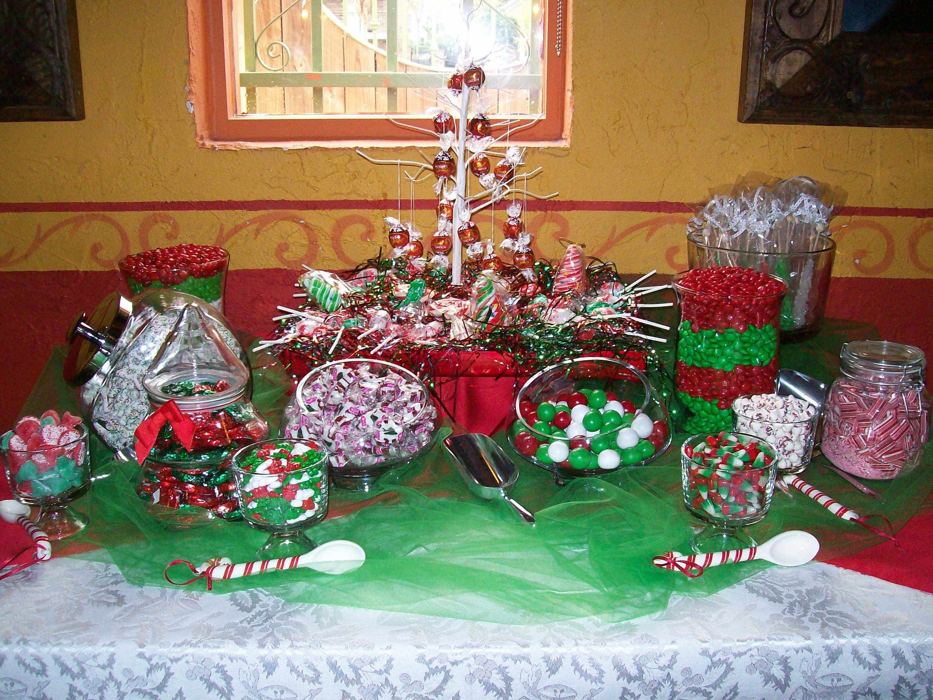 Christmas eve casual buffet ideas - Christmas Candy Buffet I Did For A Holiday Luncheon