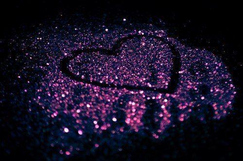 Pink glitter heart ♥