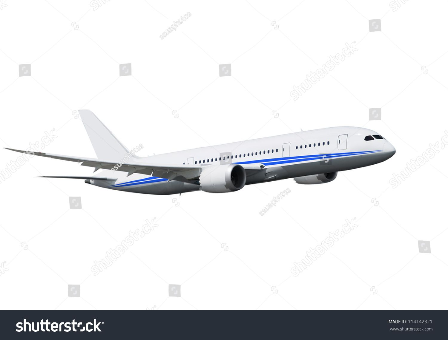 Commercial Airplane On White Background Royalty Free Images Shutterstock Stock Photography Shuttersto White Background Stock Photos Stock Photography