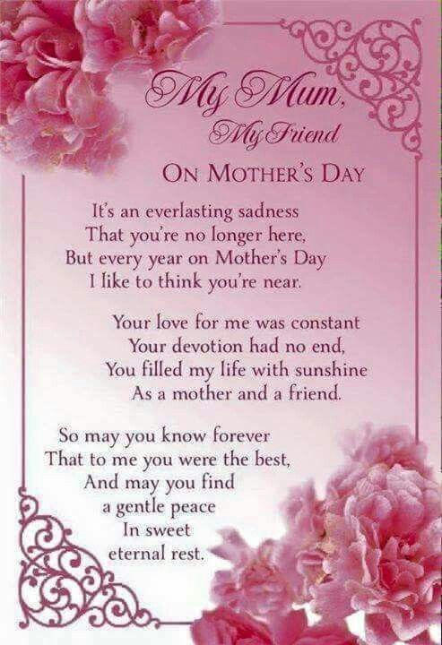 Missing Mom On Mother S Day Happy Mother Day Quotes Mom Poems Mom In Heaven