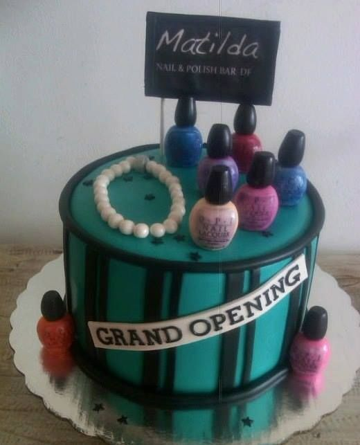 Nail salon grand opening cake | MY CAKES | Pinterest | Nail salons ...