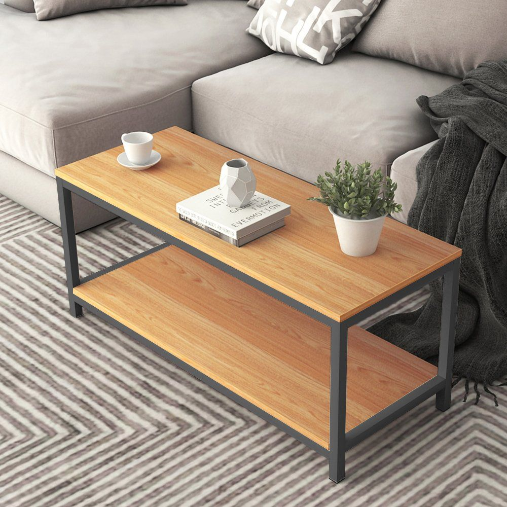 Sogeshome Coffee Tables 39 3 Coffee Table Modern Style End Table Console Table 2 Tiersteak Tvst100tksh Lear Coffee Table Living Room Table Sofa Side Table [ 1000 x 1000 Pixel ]