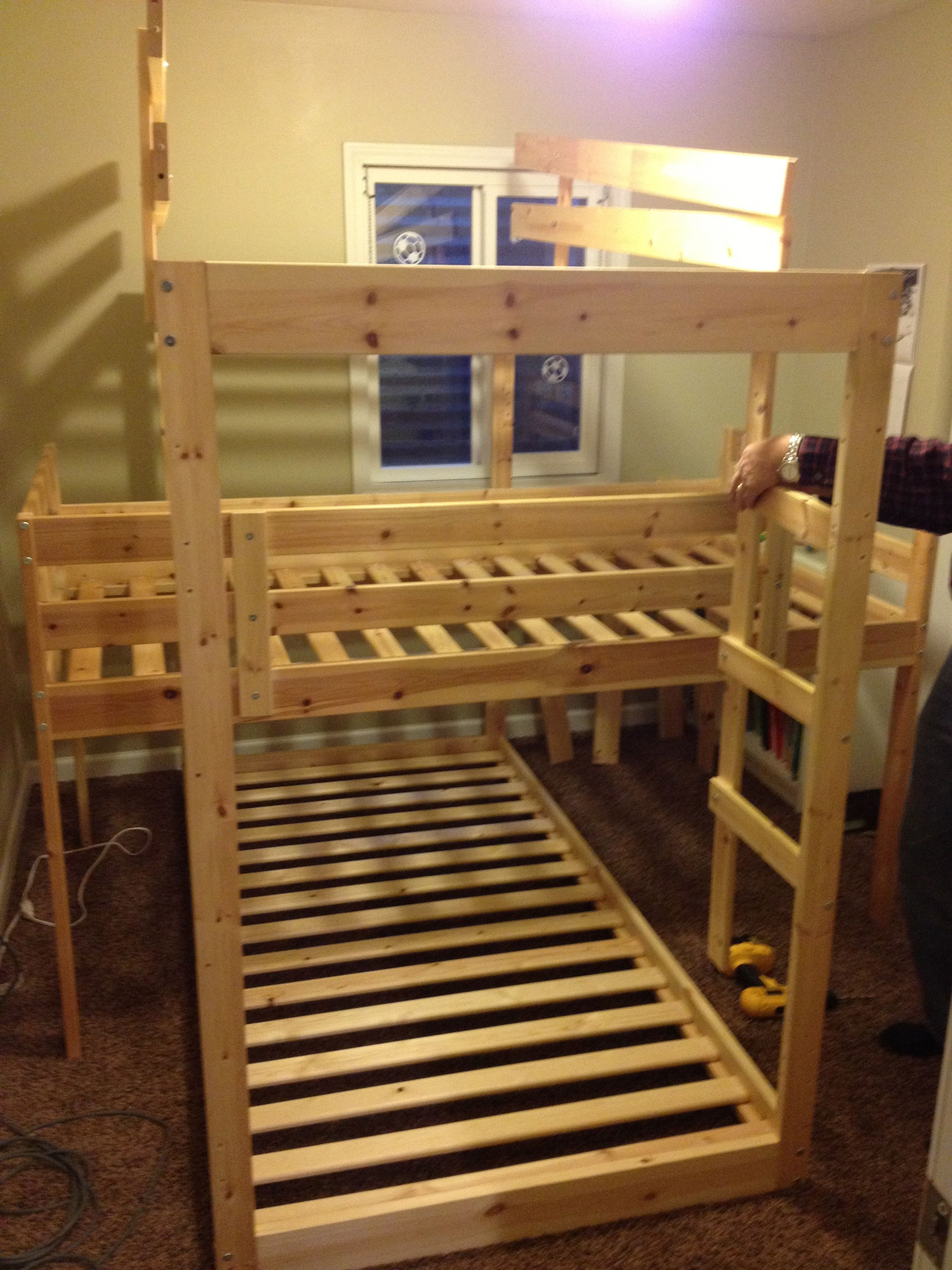 An Update And Building A Triple Bunk Bed Projects Triple Bunk