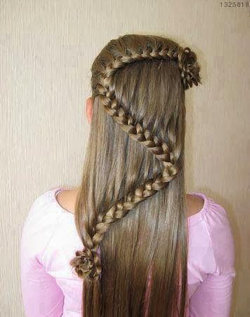 peinados para nias de pelo largo