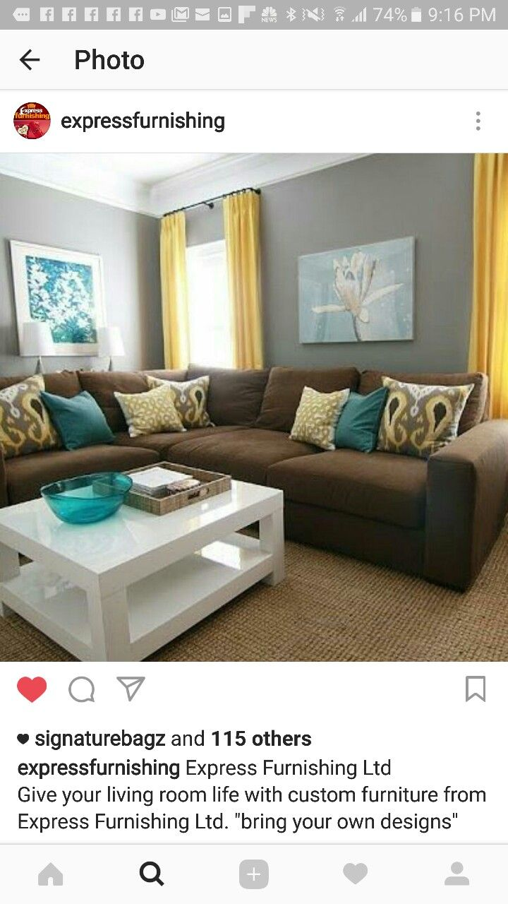 Pin By Charnette Gallimore On Rivera Brown Couch Living Room