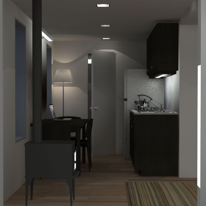 20 Foot Shipping Container Home Interior