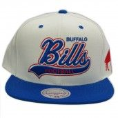 a808cfc49 Mitchell   Ness Buffalo Bills Snapback NFL Throwback Script Tail Sweeper