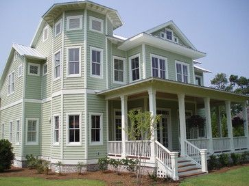 Exterior Paint Color Schemes Tropical Exterior Photos