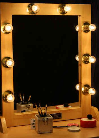 Mirror. Light Up Vanity Mirror   Back Stage Shop Make Up Lights   Mirrors
