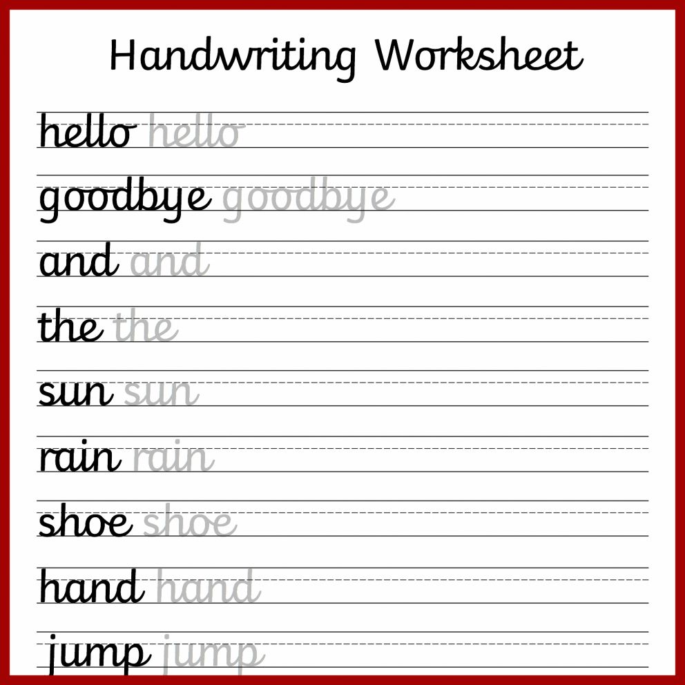 10+ 3Rd Grade Handwriting Worksheets   Cursive handwriting worksheets [ 992 x 992 Pixel ]