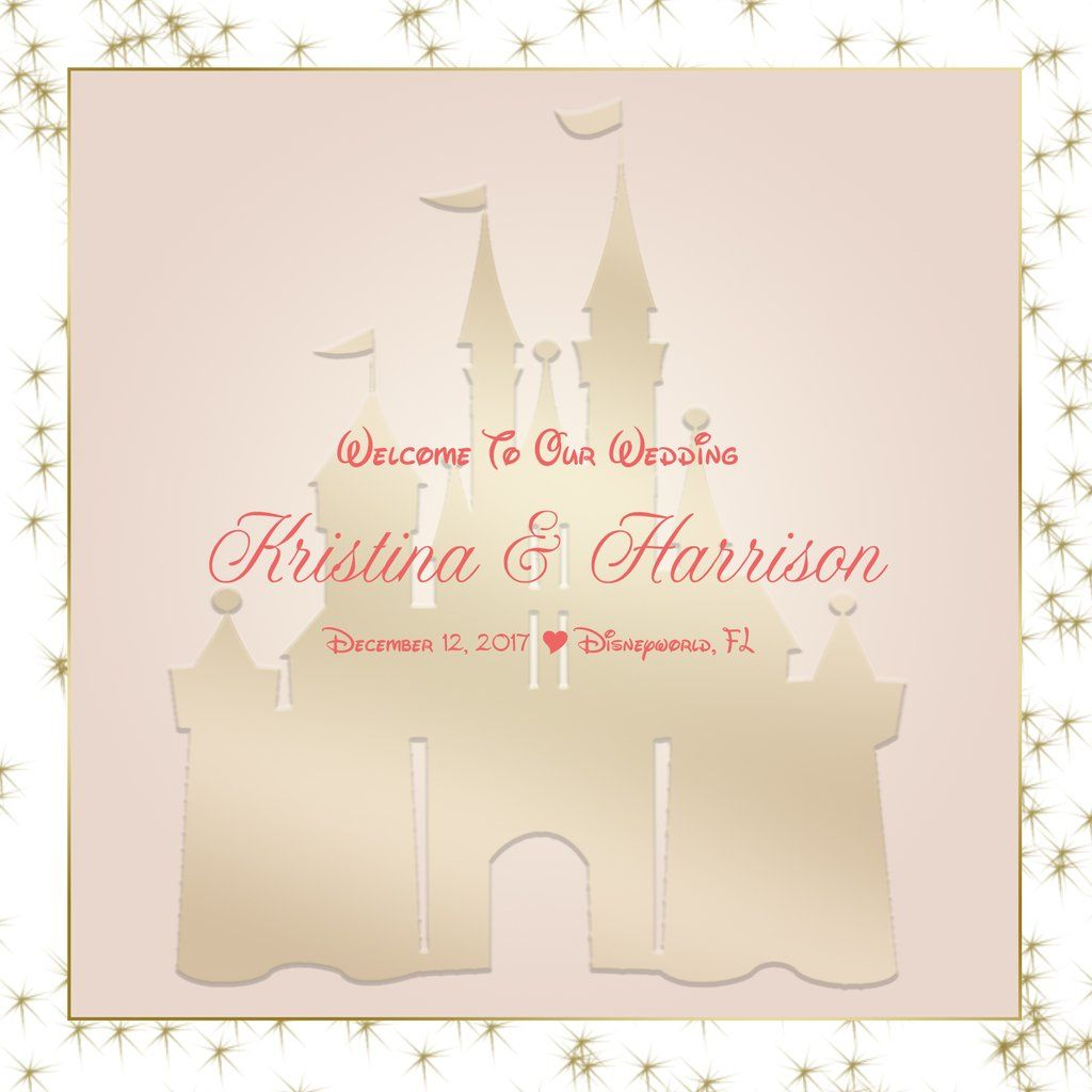 Disney Castle Welcome Bag labels for hotel guests hospitality gift ...