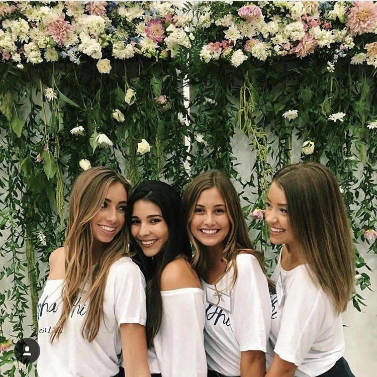 9f739bfc8a3 This backdrop is so easy to make! Sorority Bid Day