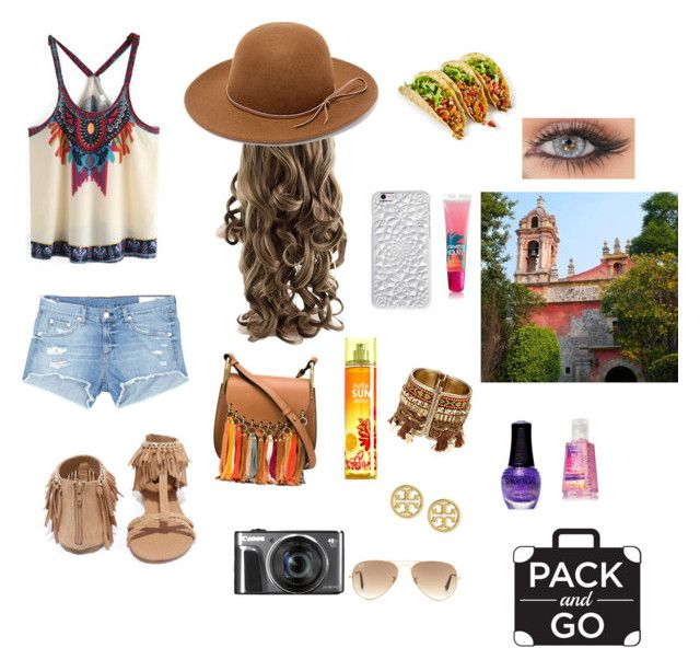 """""""Mexico City"""" by alexisfiloon ❤ liked on Polyvore featuring rag & bone/JEAN, Qupid, Chloé, RHYTHM, Felony Case, Ray-Ban, Tory Burch, SpaRitual and South Beach"""