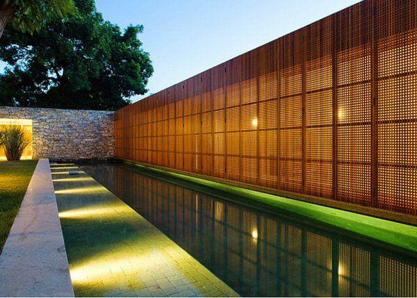 Les plus beaux claustras pour isoler un jardin am nagement jardin claustra brise soleil et - Isoler son jardin des regards ...
