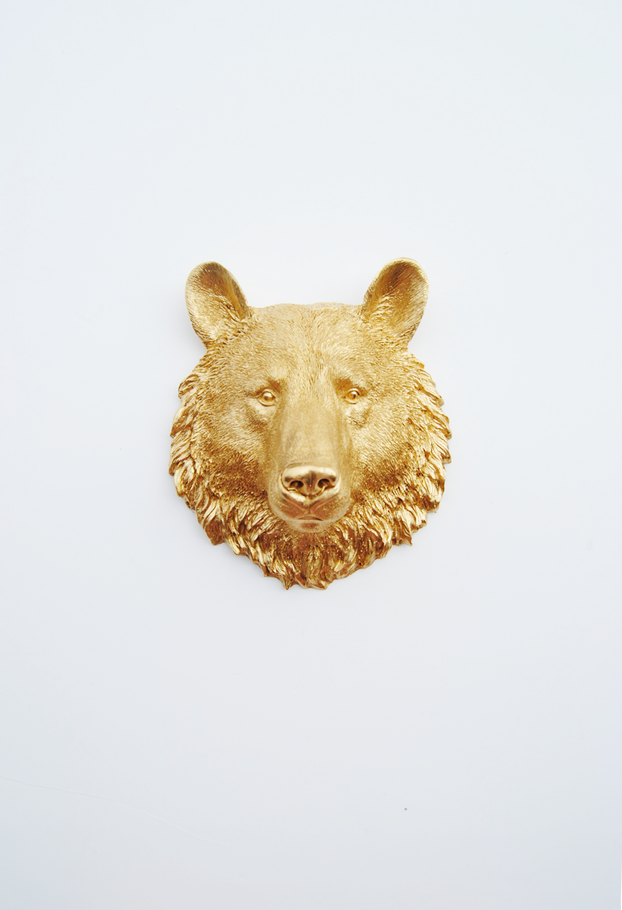 The Hudson | Mini Bear Head | Faux Taxidermy Animal Wall Decor ...
