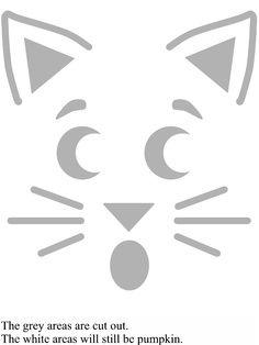Kitty Cat Pumpkin Carving Template Best Stuff Print Pinterest