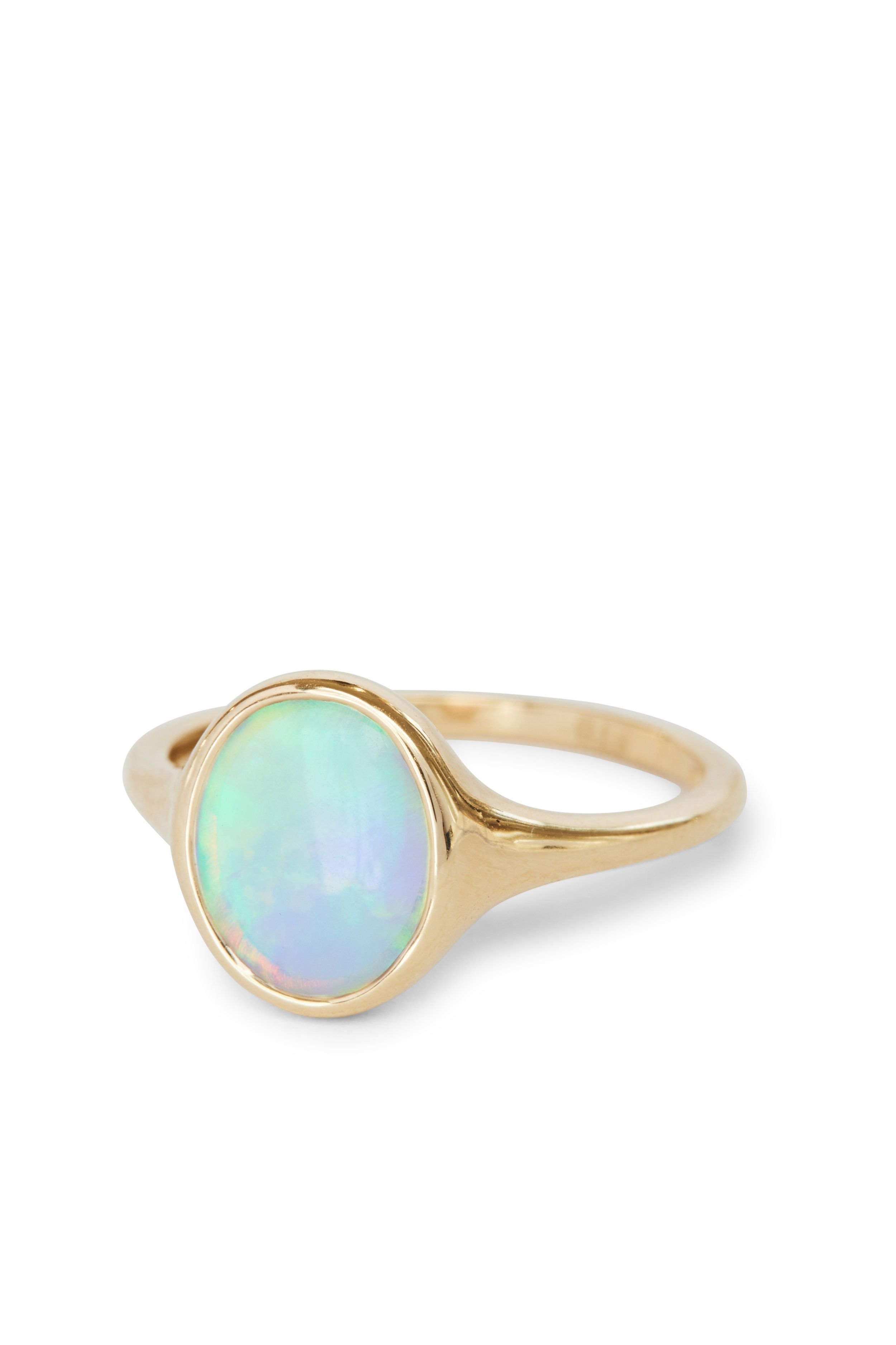 Galaxy Ring Moonstone engagement ring set, White