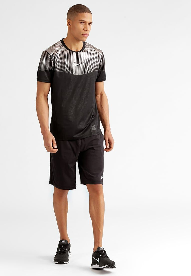bfa2cd6d1 Nike Performance PRO HYPERCOOL MAX - Print T-shirt - noir/argenté ...