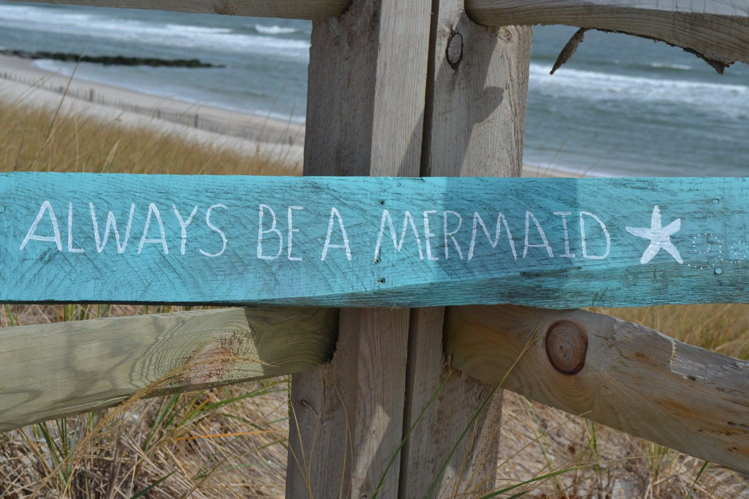 Always Be a Mermaid.  Reclaimed Wood, Wall Art, HandMade, Great Piece with tons of Character by MomsGoneMad on Etsy