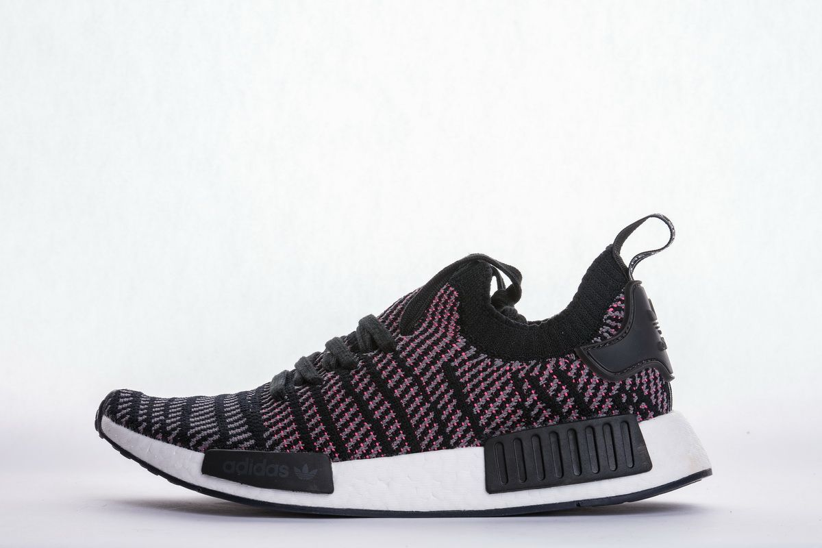 Adidas Nmd R1 Stlt Pk Core Blackgraypink Cq2386 Real Boost One Of The Releases Comes Dressed In A Core Black G Adidas Nmd R1 Pink Color Combination Adidas Nmd