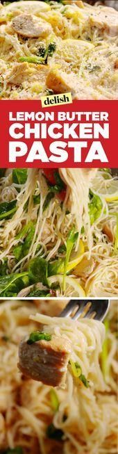 Lemon Butter Chicken Noodles  Health and fitness  #Fitness #Health # Chicken .
