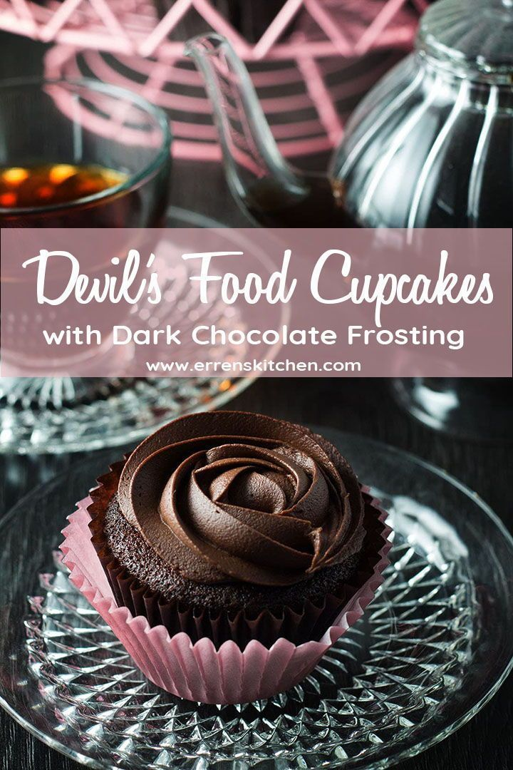 The kids will love joining in with this easy recipe for Devils food cupcakes, with a moist texture and creamy dark frosting, everyone will adore them too!