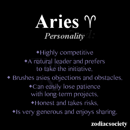 Aries zodiac dates: